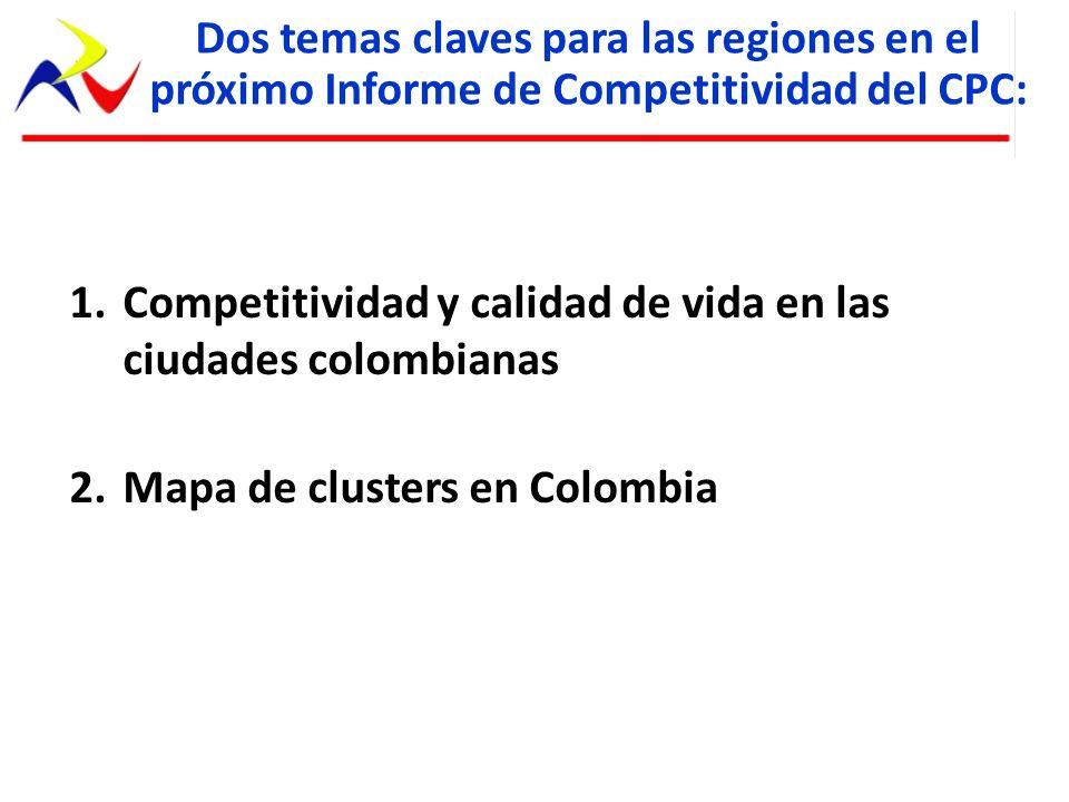 Competitividad y calidad de vida en las ciudades colombianas