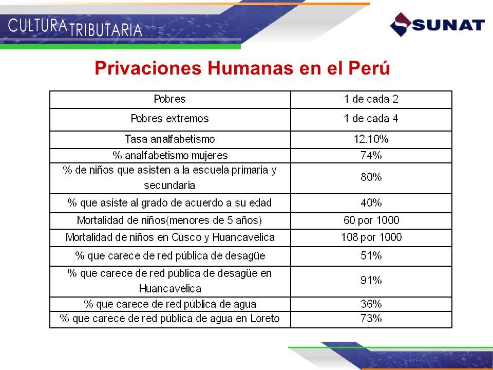 Privaciones Humanas en el Perú