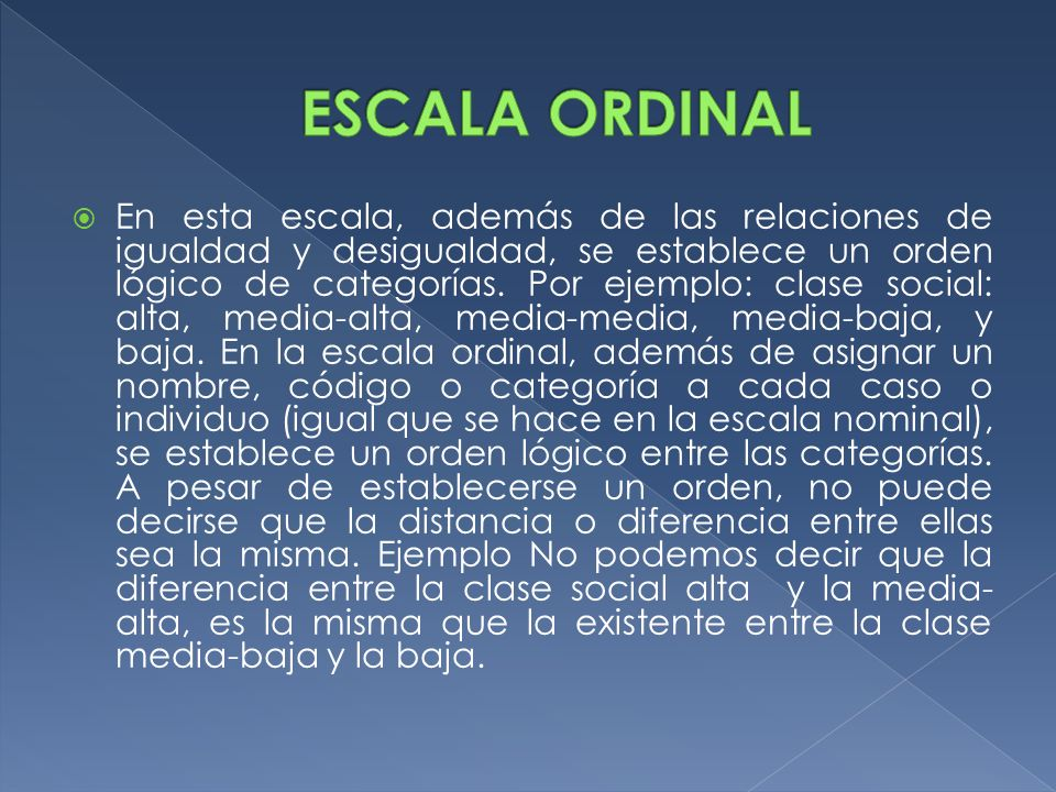 ESCALA ORDINAL