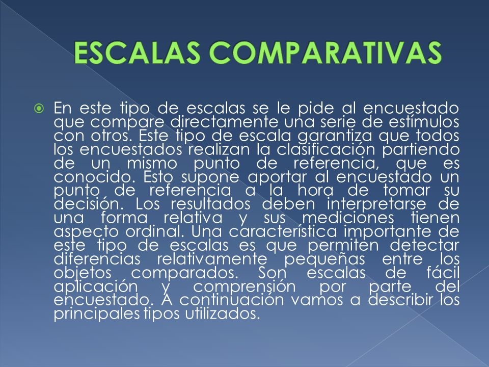ESCALAS COMPARATIVAS