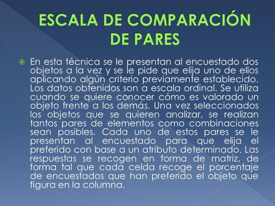 ESCALA DE COMPARACIÓN DE PARES