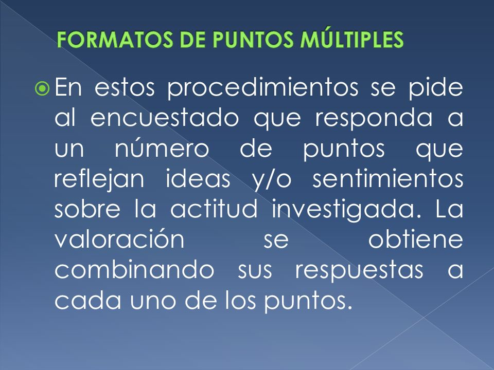 FORMATOS DE PUNTOS MÚLTIPLES
