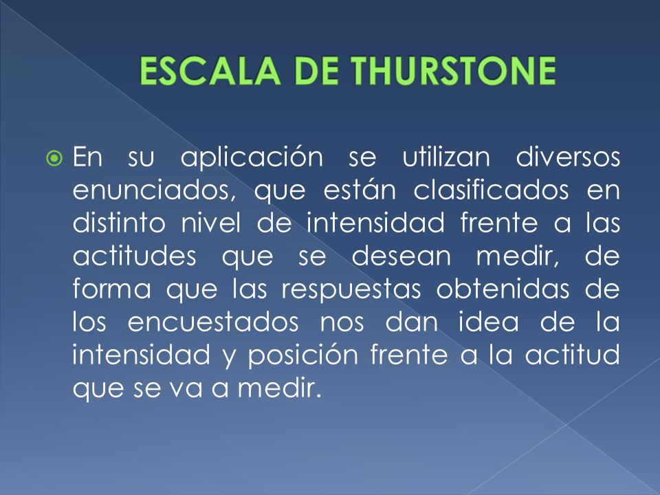 ESCALA DE THURSTONE