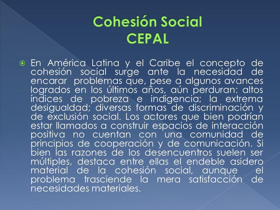Cohesión Social CEPAL