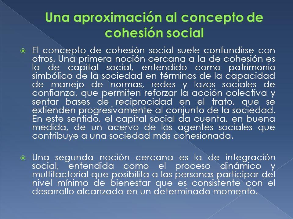 Una aproximación al concepto de cohesión social