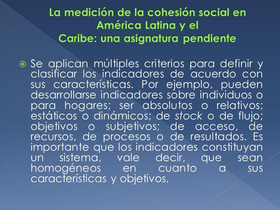 La medición de la cohesión social en América Latina y el Caribe: una asignatura pendiente