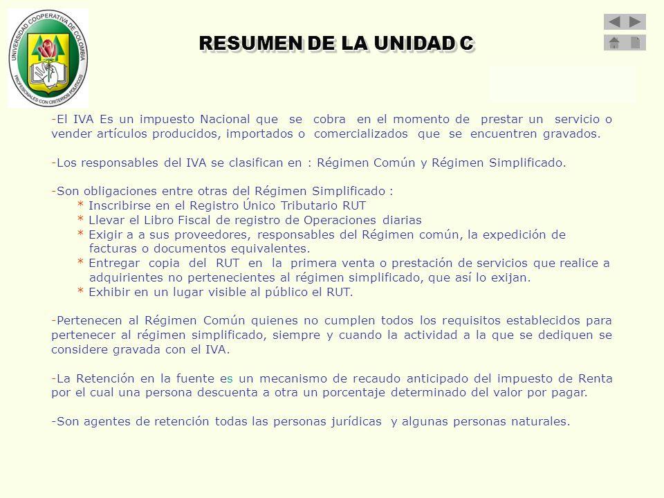 RESUMEN DE LA UNIDAD C