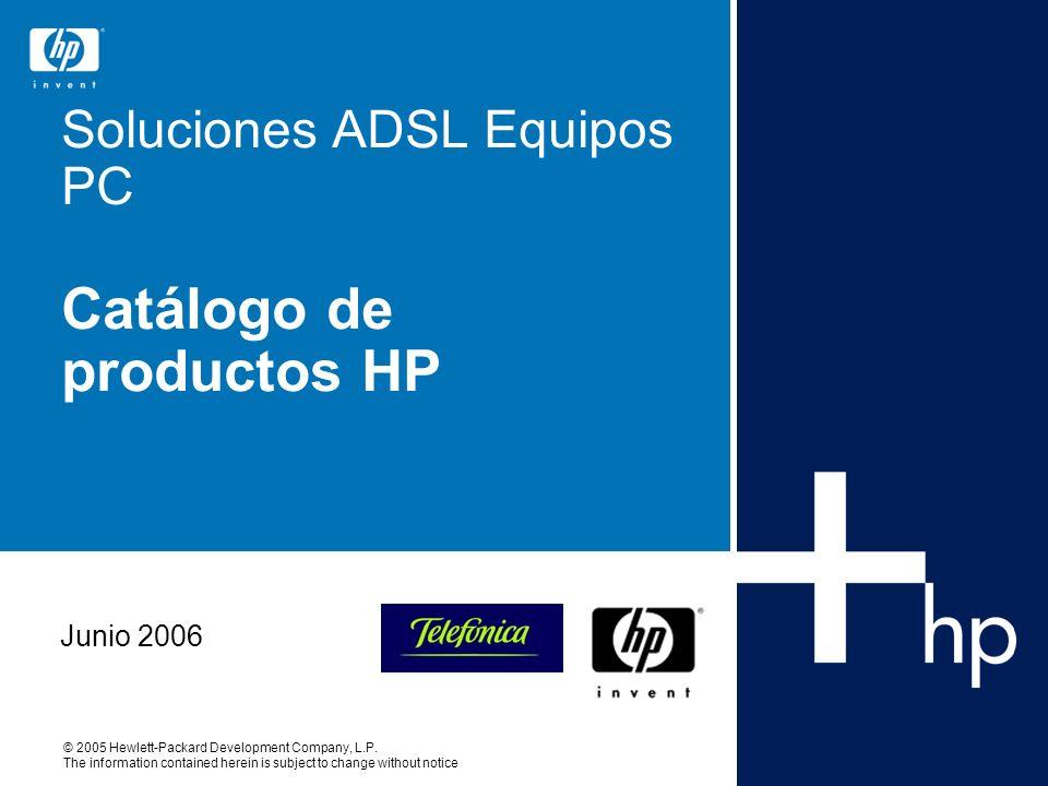 Soluciones ADSL Equipos PC Catálogo de productos HP