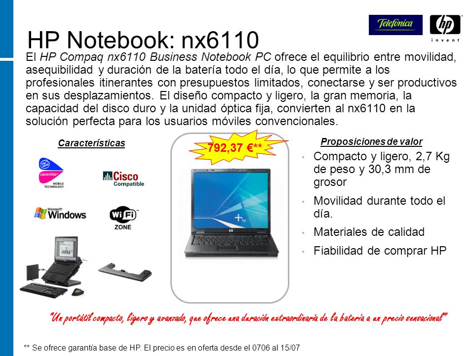 HP Notebook: nx6110