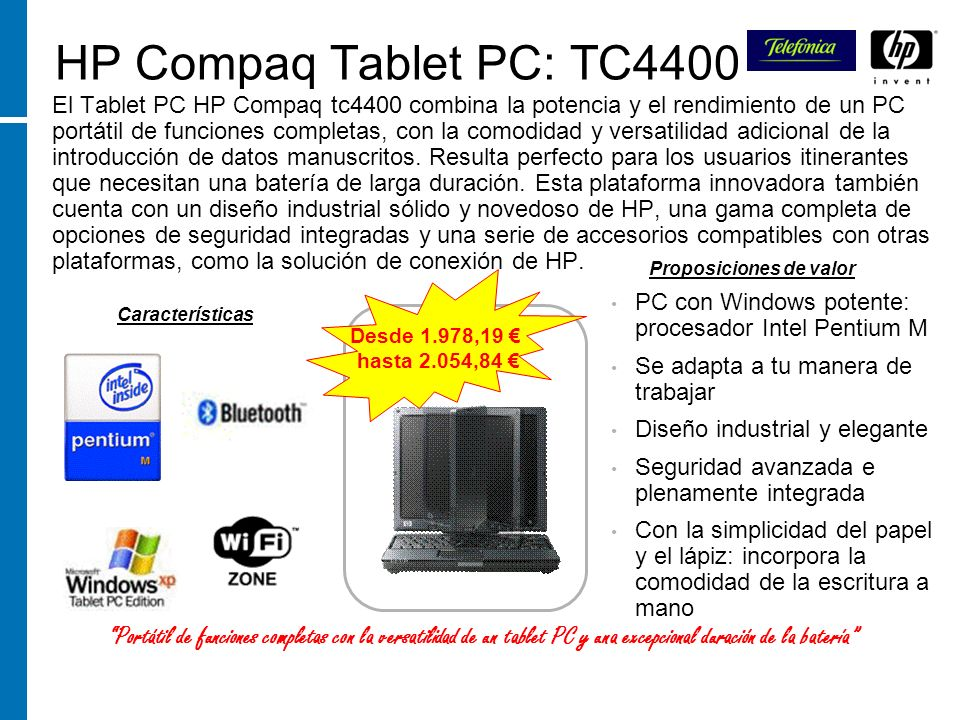 HP Compaq Tablet PC: TC4400