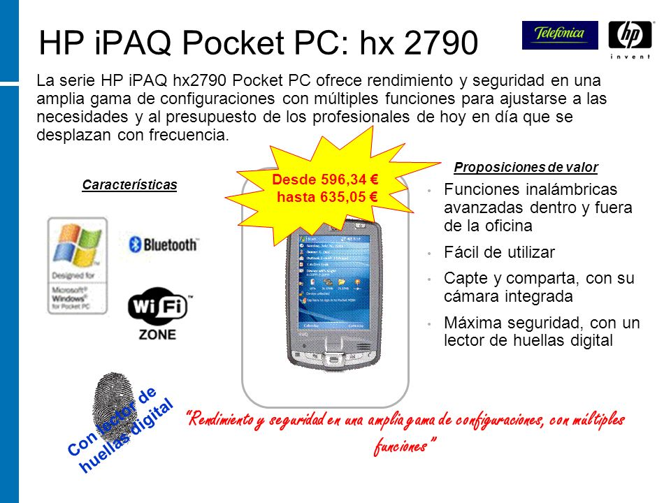 HP iPAQ Pocket PC: hx 2790