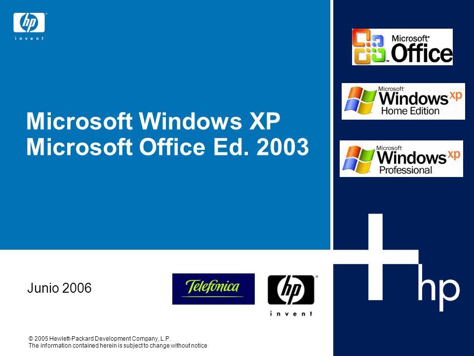 Microsoft Windows XP Microsoft Office Ed. 2003