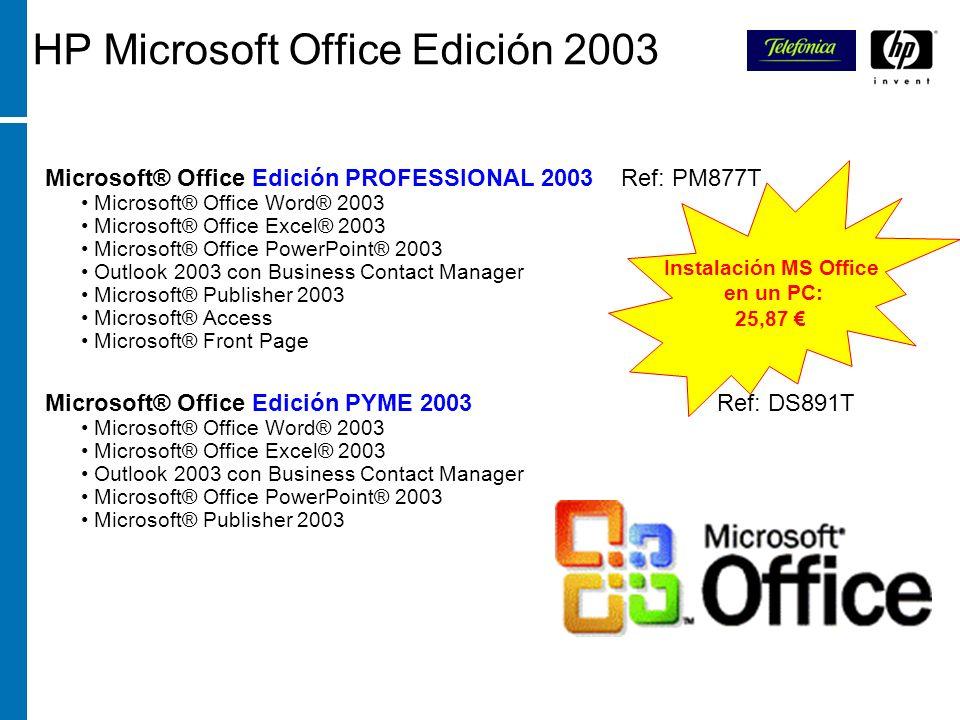 HP Microsoft Office Edición 2003