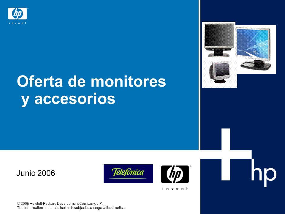 Oferta de monitores y accesorios