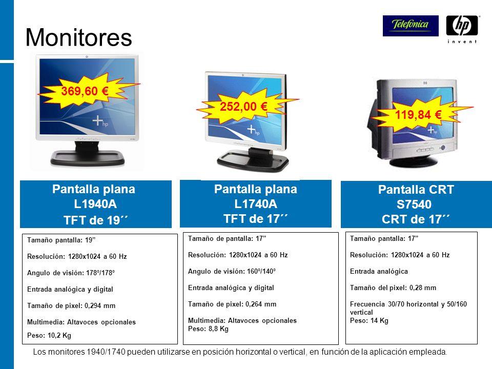 Monitores 369,60 € 252,00 € 119,84 € Pantalla plana L1940A TFT de 19´´