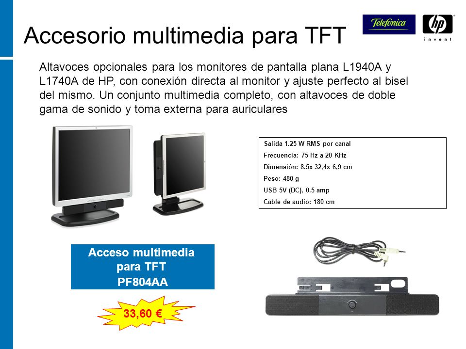 Accesorio multimedia para TFT