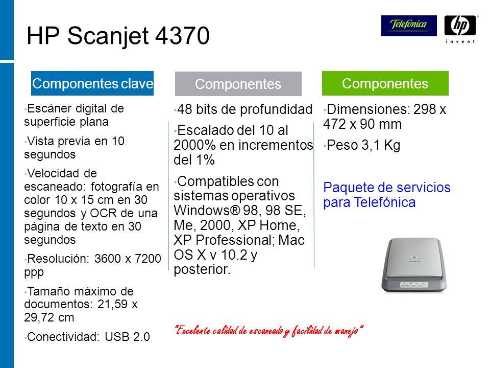 HP Scanjet 4370 Componentes clave Componentes Componentes