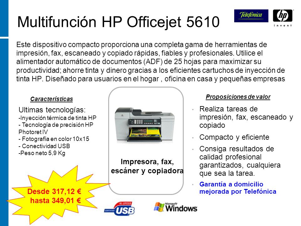 Multifunción HP Officejet 5610