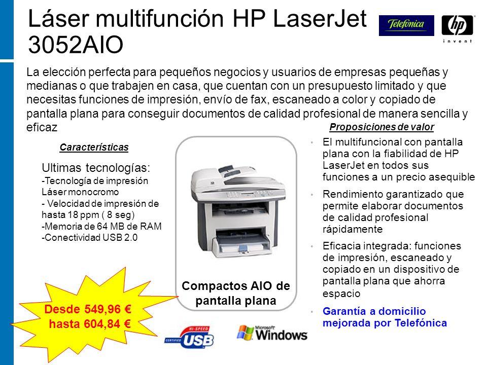 Láser multifunción HP LaserJet 3052AIO