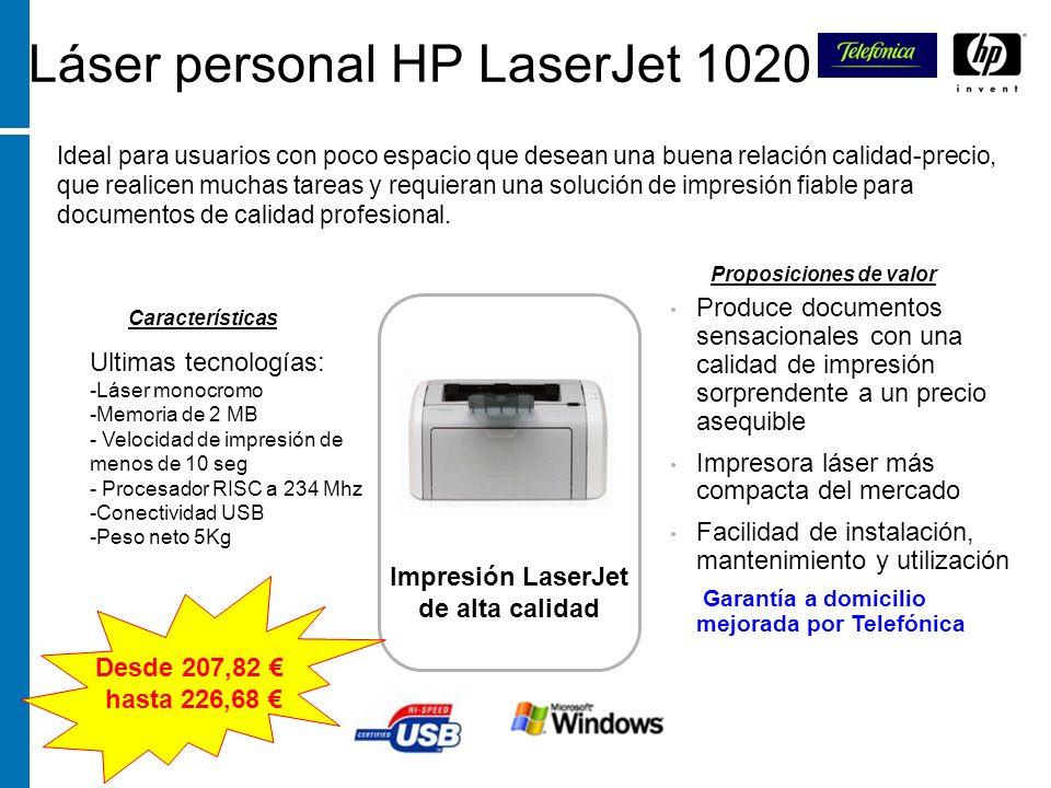Láser personal HP LaserJet 1020