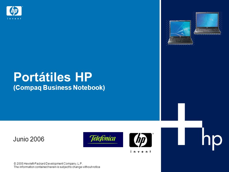 Portátiles HP (Compaq Business Notebook)