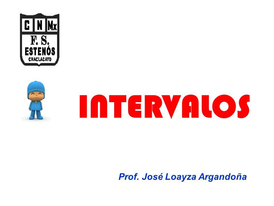INTERVALOS Prof. José Loayza Argandoña