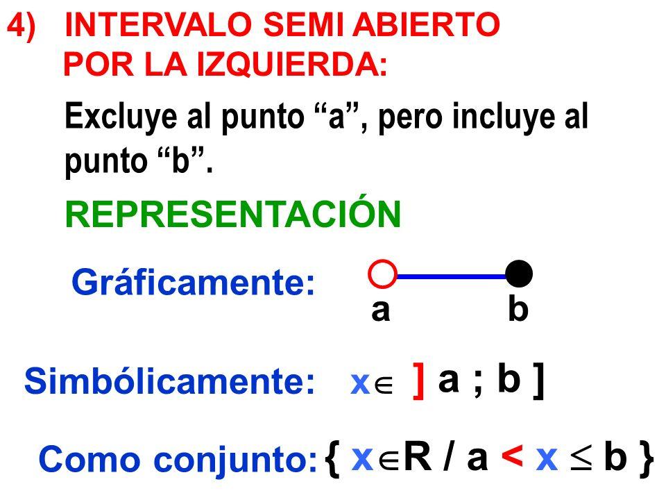 4) INTERVALO SEMI ABIERTO