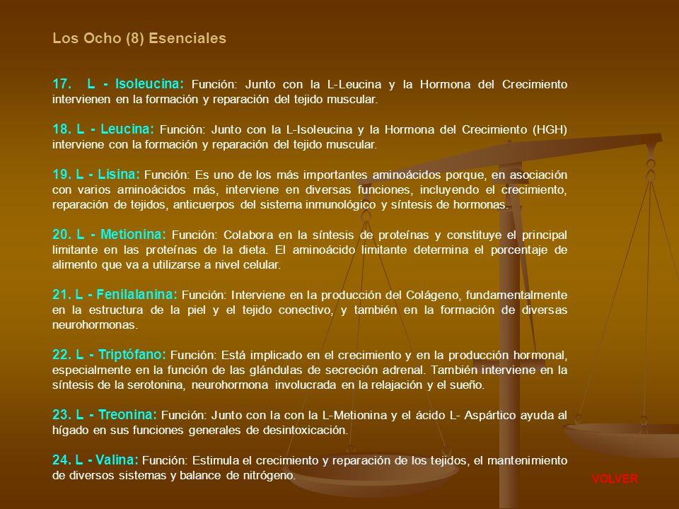 Los Ocho (8) Esenciales