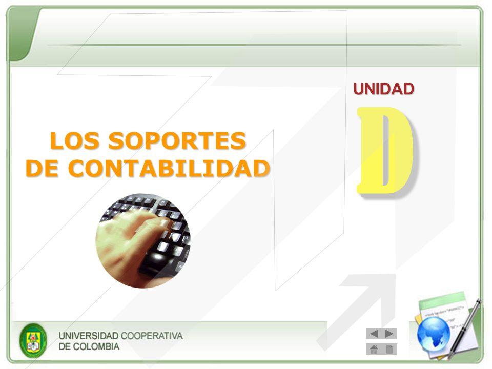 UNIDAD D LOS SOPORTES DE CONTABILIDAD