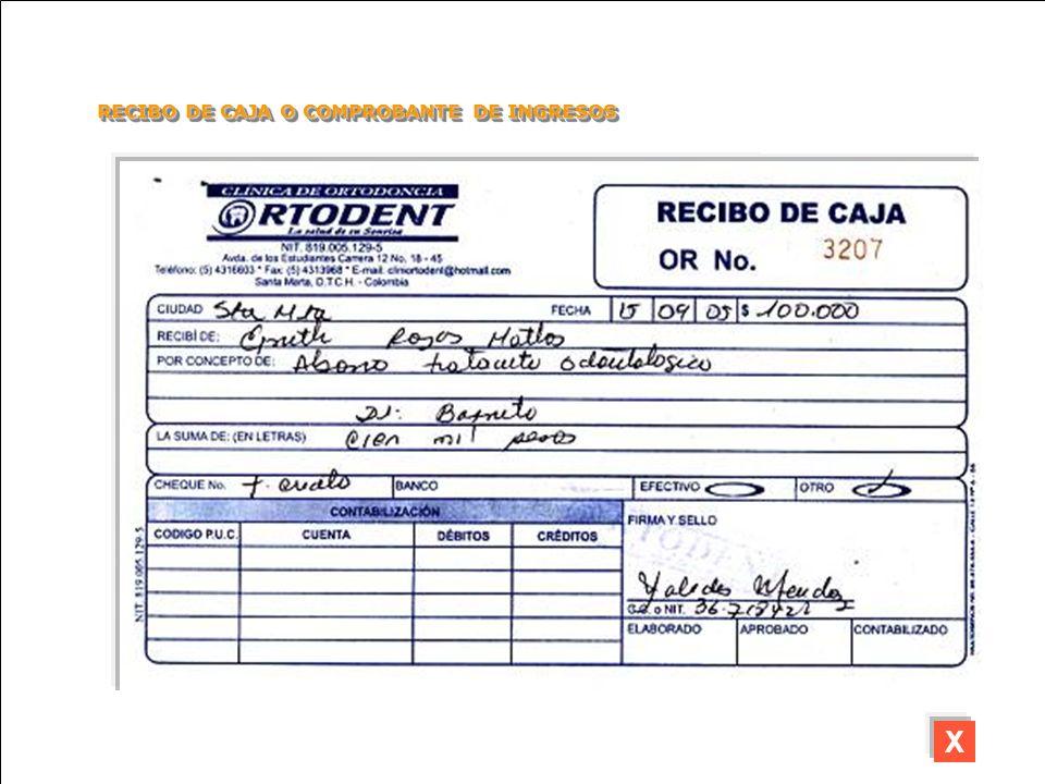 RECIBO DE CAJA O COMPROBANTE DE INGRESOS