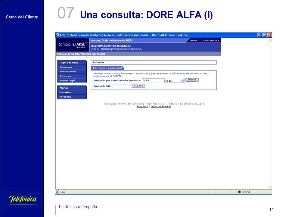 07 Una consulta: DORE ALFA (I)