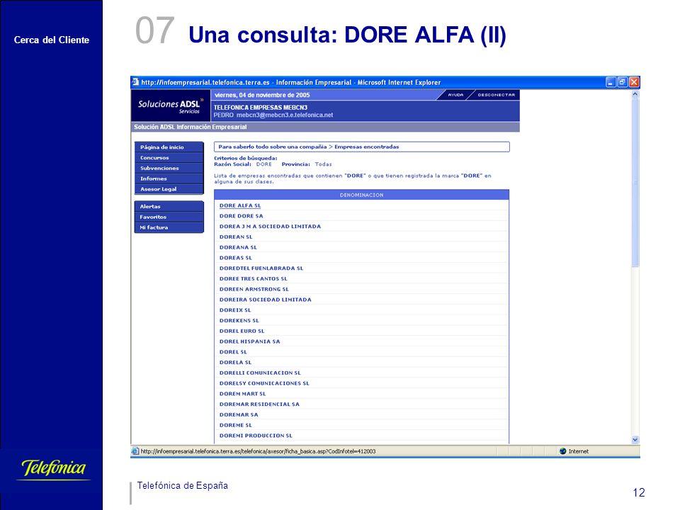07 Una consulta: DORE ALFA (II)