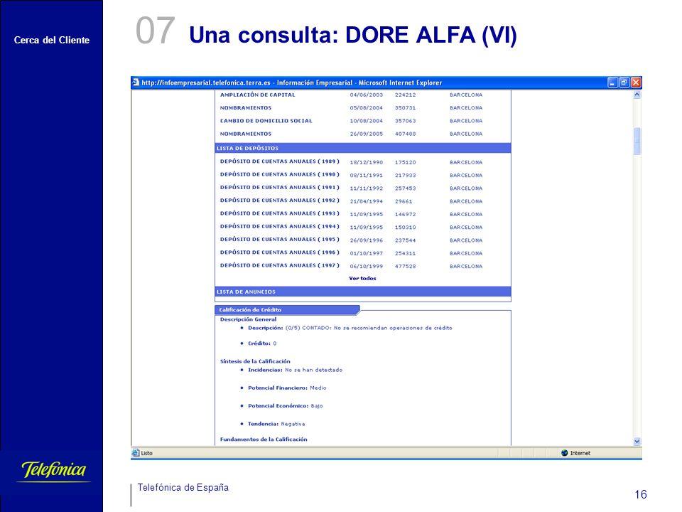 07 Una consulta: DORE ALFA (VI)