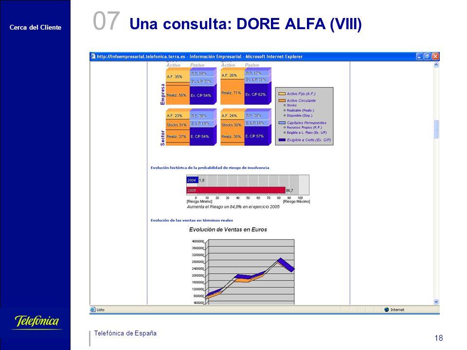 07 Una consulta: DORE ALFA (VIII)