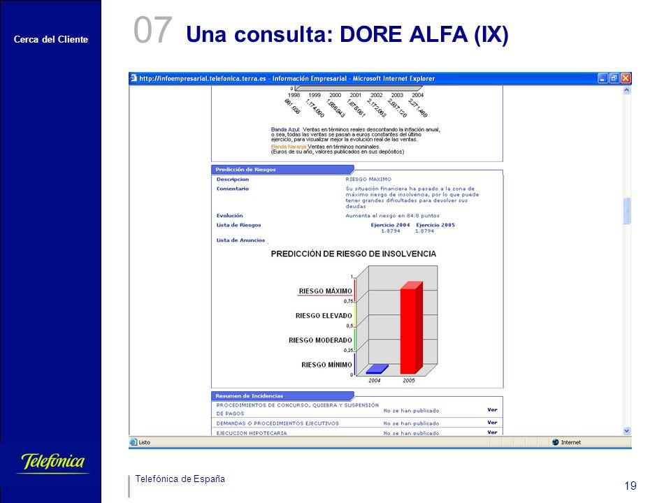 07 Una consulta: DORE ALFA (IX)