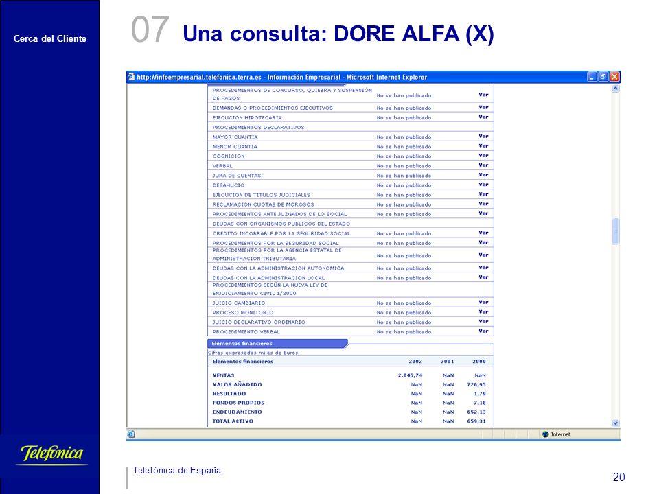 07 Una consulta: DORE ALFA (X)