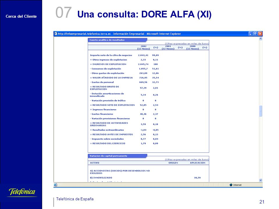 07 Una consulta: DORE ALFA (XI)