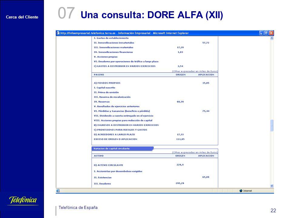 07 Una consulta: DORE ALFA (XII)