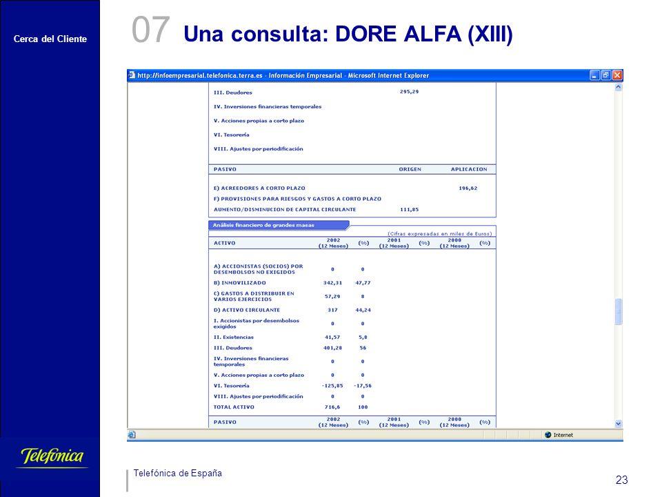 07 Una consulta: DORE ALFA (XIII)