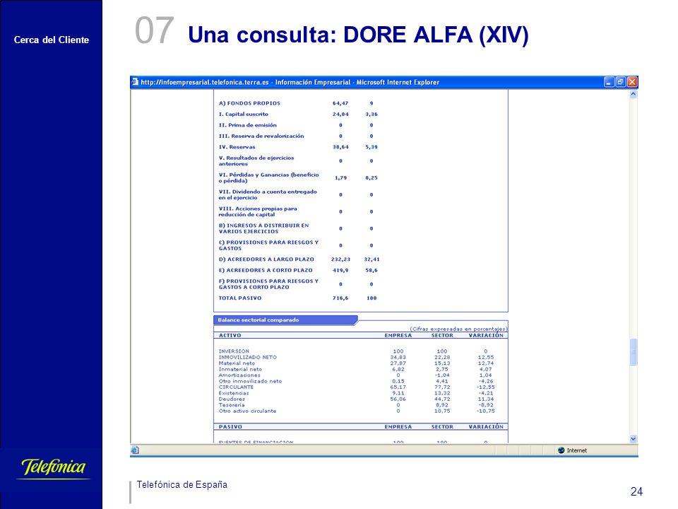 07 Una consulta: DORE ALFA (XIV)
