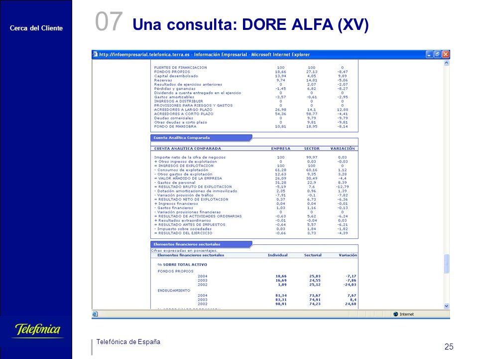 07 Una consulta: DORE ALFA (XV)