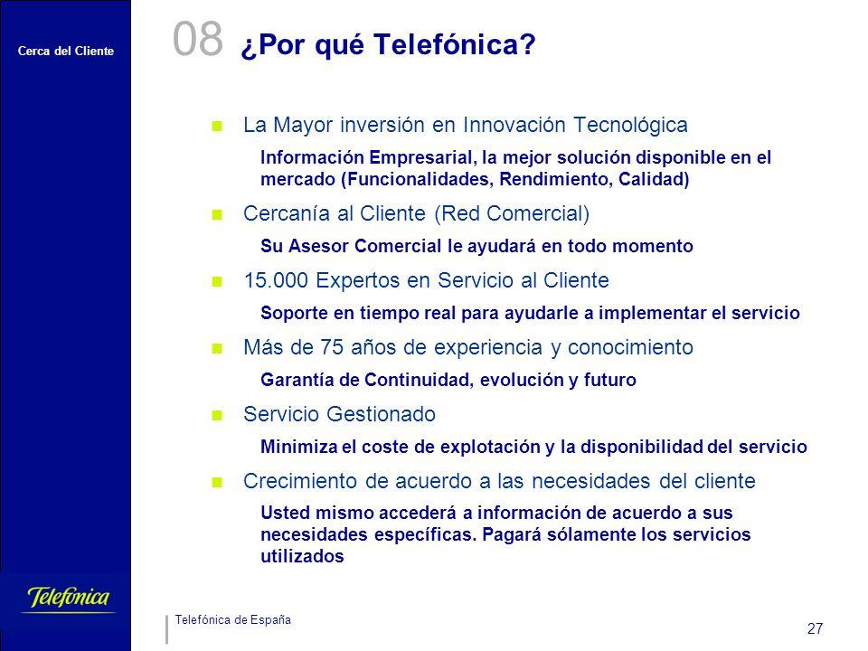 08 ¿Por qué Telefónica La Mayor inversión en Innovación Tecnológica