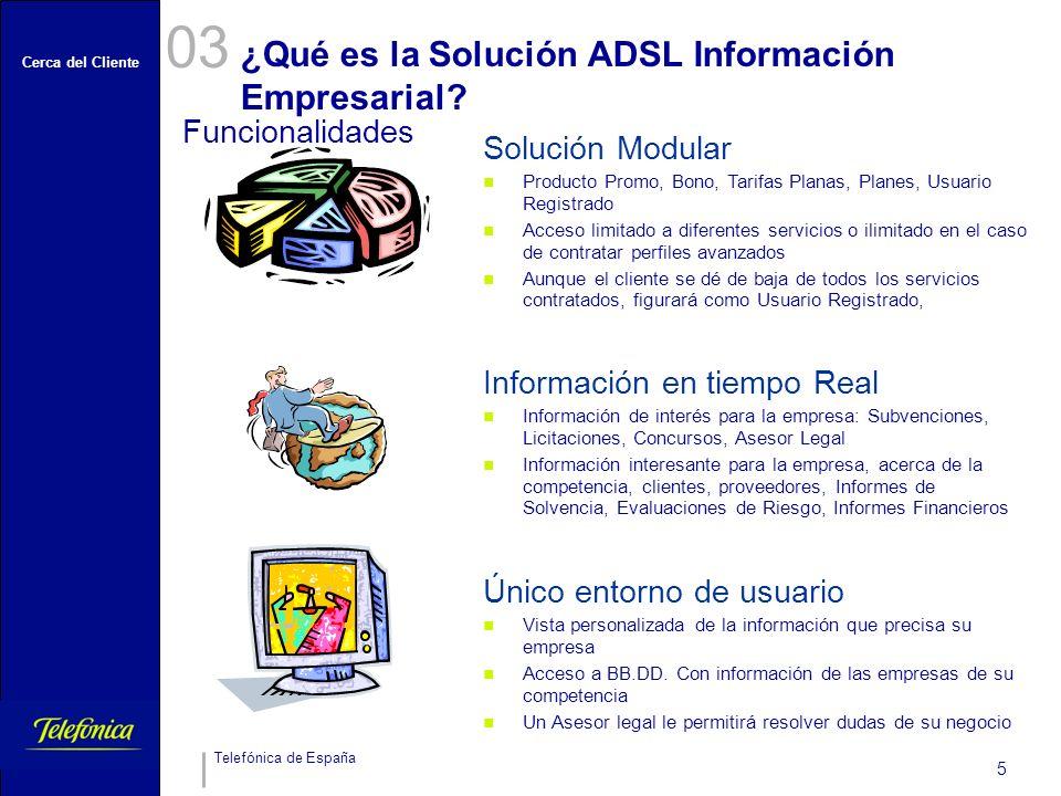 ¿Qué es la Solución ADSL Información Empresarial