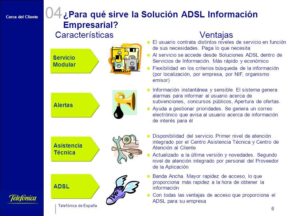 ¿Para qué sirve la Solución ADSL Información Empresarial