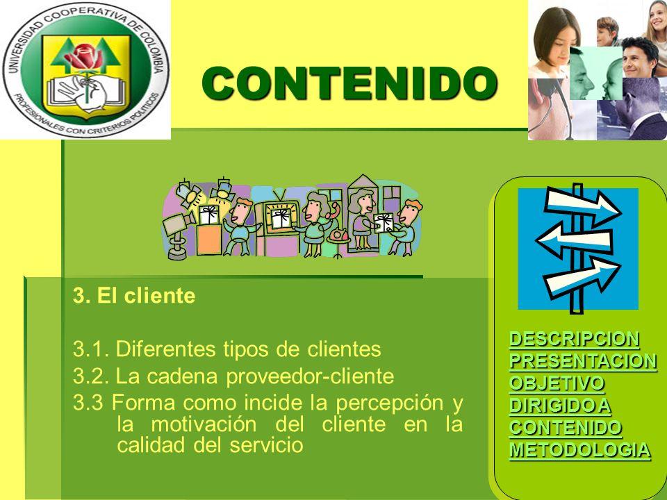 CONTENIDO 3. El cliente 3.1. Diferentes tipos de clientes