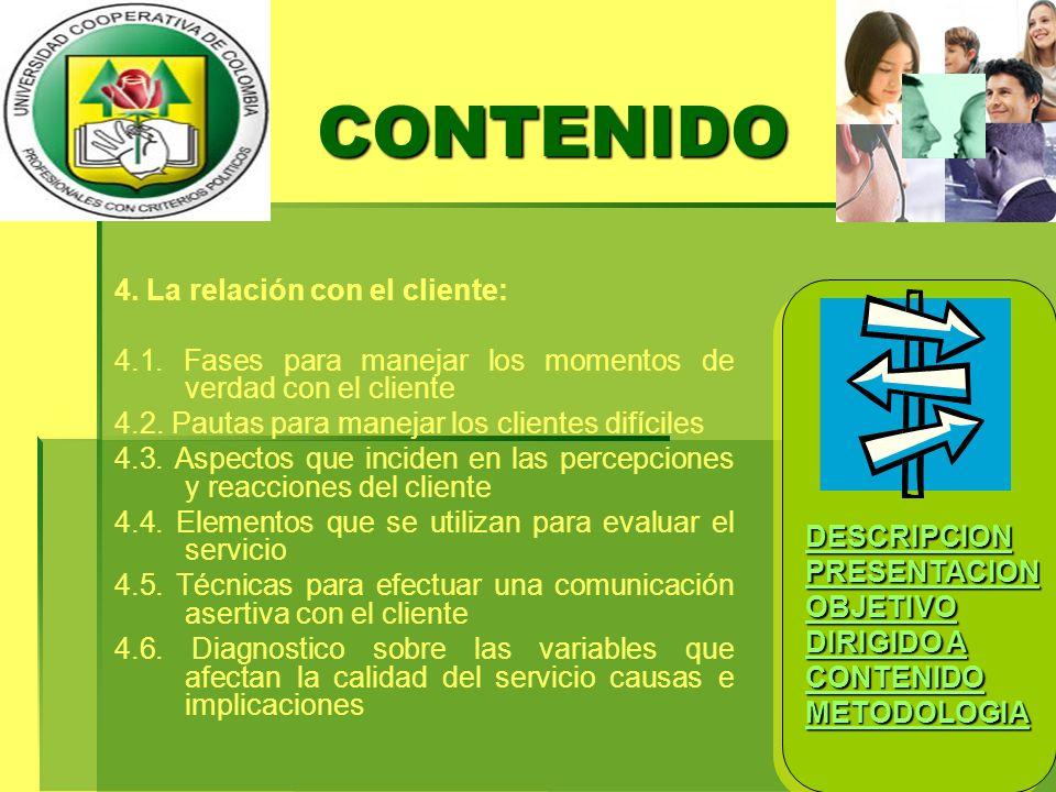 CONTENIDO 4. La relación con el cliente: