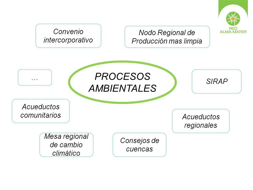 PROCESOS AMBIENTALES Convenio Nodo Regional de intercorporativo