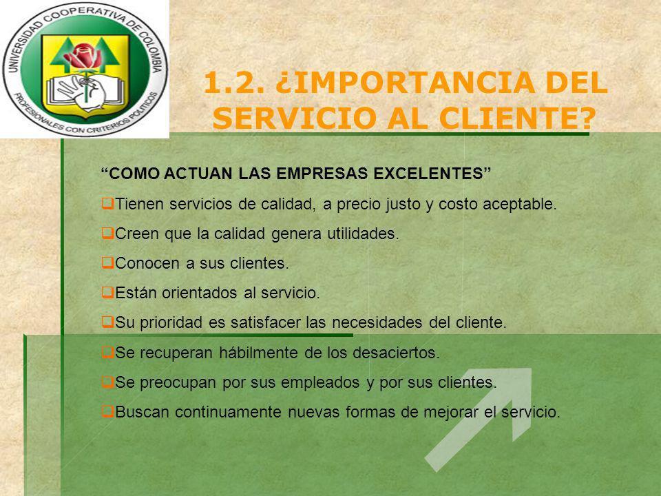 1.2. ¿IMPORTANCIA DEL SERVICIO AL CLIENTE