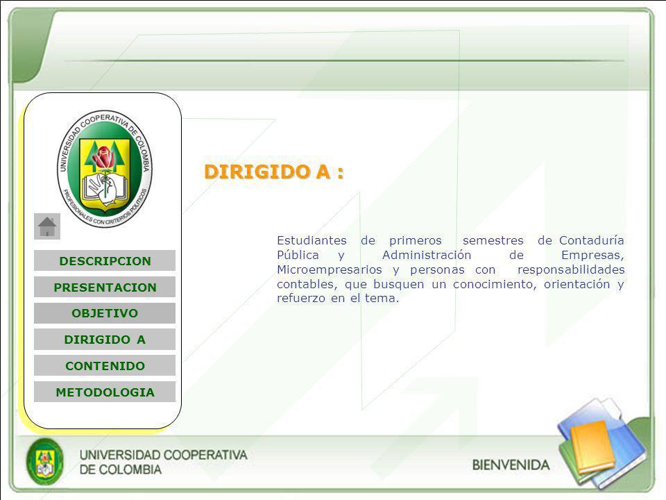 DIRIGIDO A :