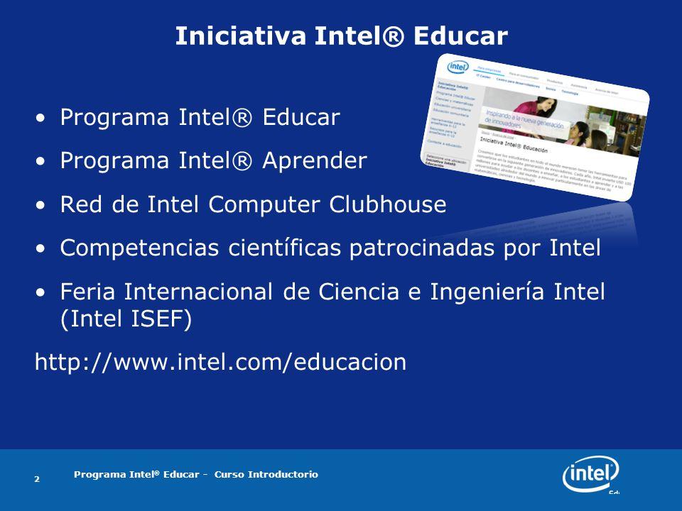 Iniciativa Intel® Educar
